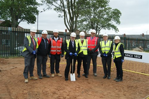 Breaking the ground ceremony at new homes in Balby.jpg